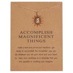 ✨NEW! Accomplish Magnificent Things Necklace Card